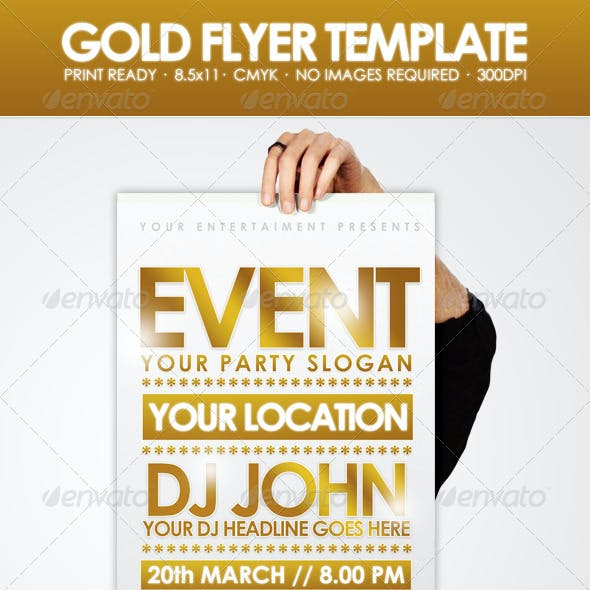 Gold - Flyer Template