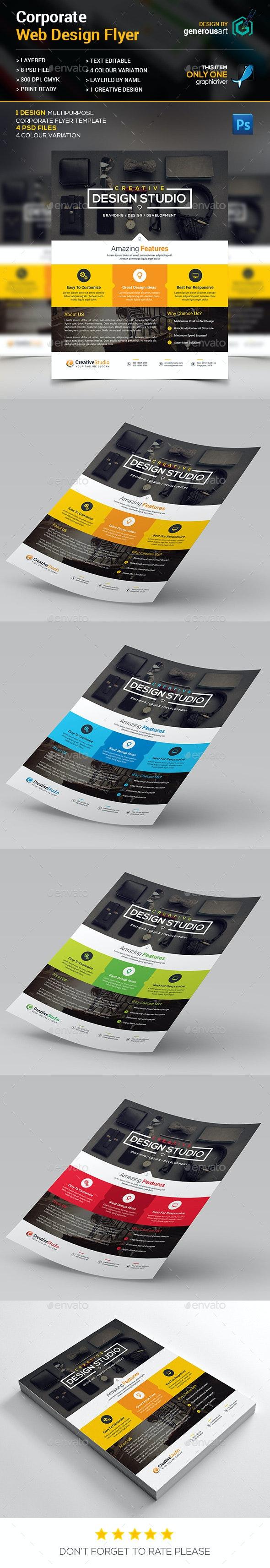 Web Design Flyer - Corporate Flyers