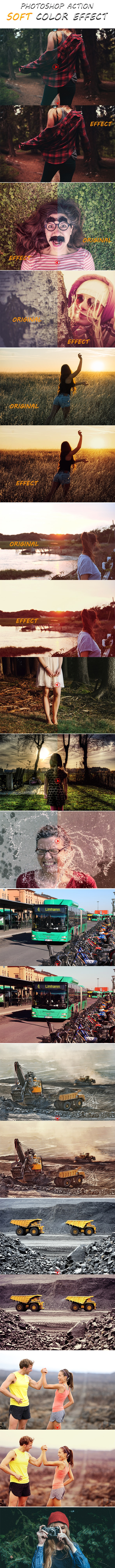 Photoshop Action Soft Color Effect vol 02 - Photo Effects Actions