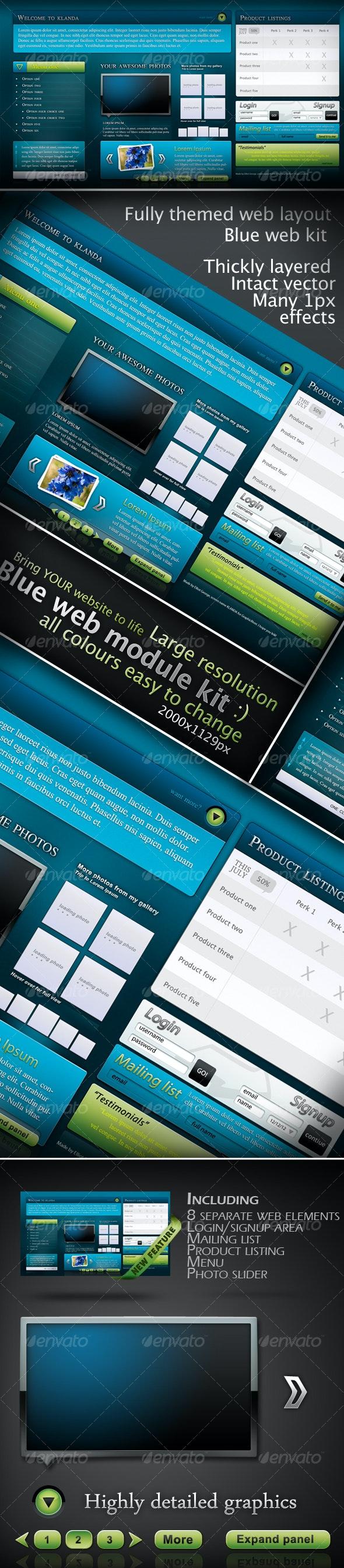 Blue Web Module Pack - Web Elements