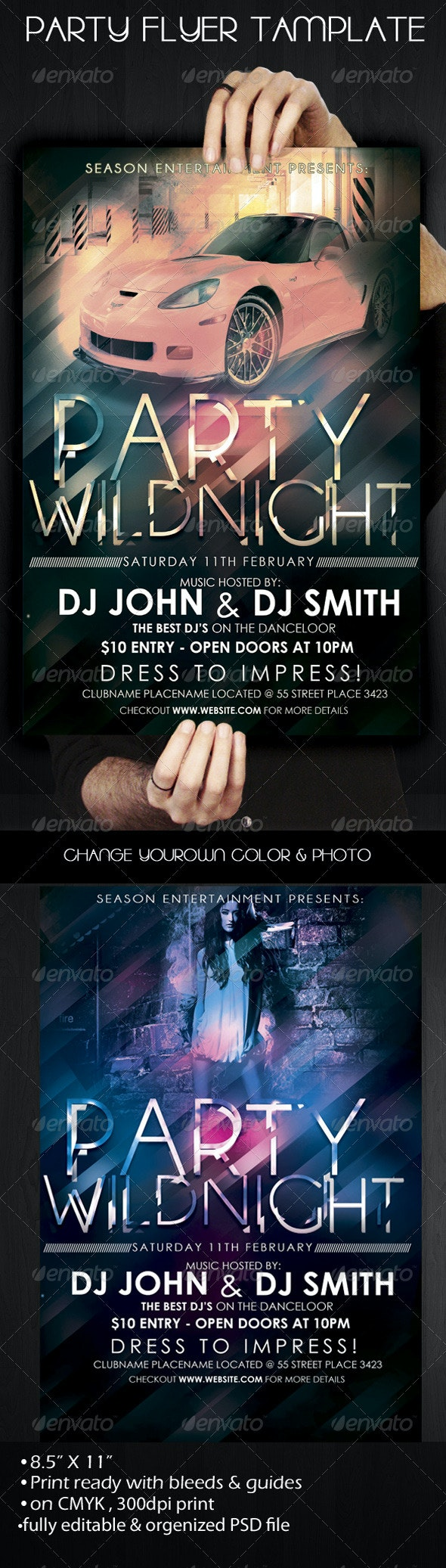 Party Flyer \ Poster Template - Clubs & Parties Events