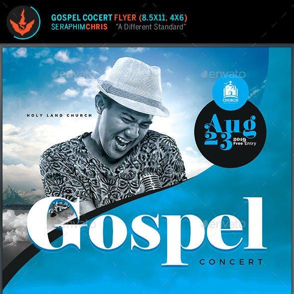 Modern Gospel Concert Flyer Template
