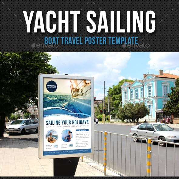 Yacht Sailing Poster Template V05