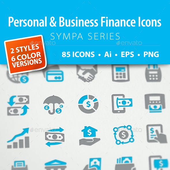 Personal & Business Finance Icons - Sympa Series