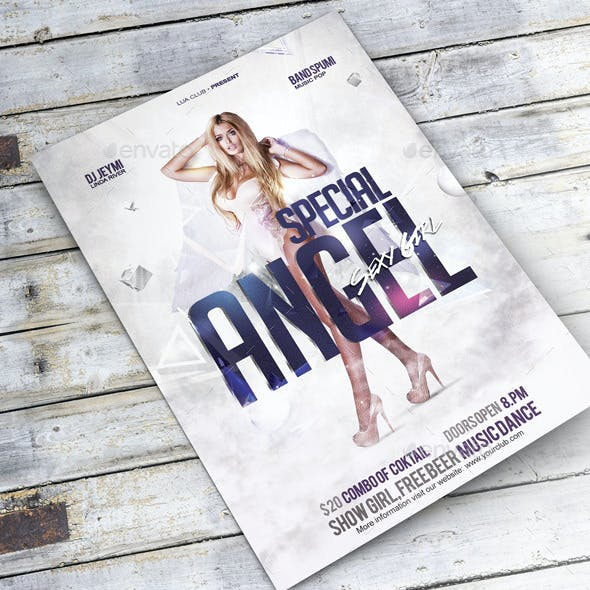 Flyer Special Angel Sexy Girl