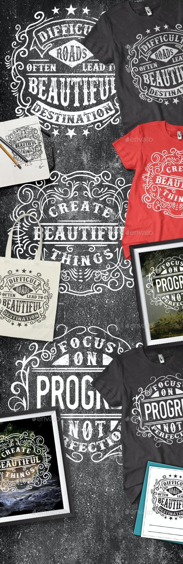 3 Typography T-shirt - T-Shirts
