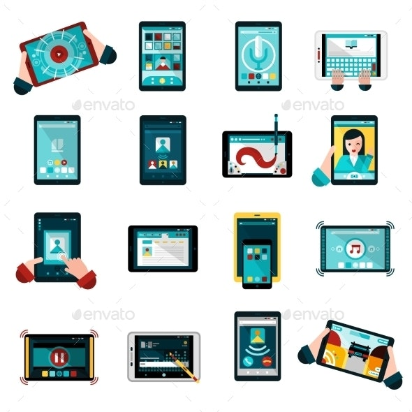 Phablet Icons Set - Technology Icons