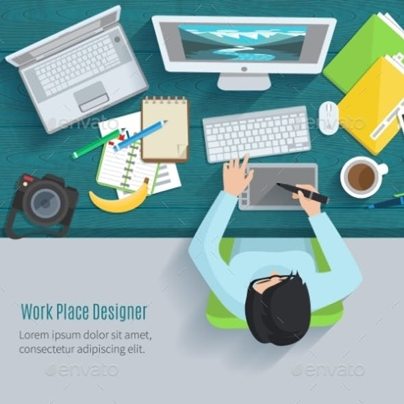 Designer Workplace Flat