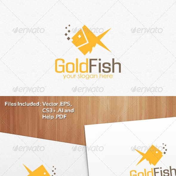 Gold Fish Logo Template Design