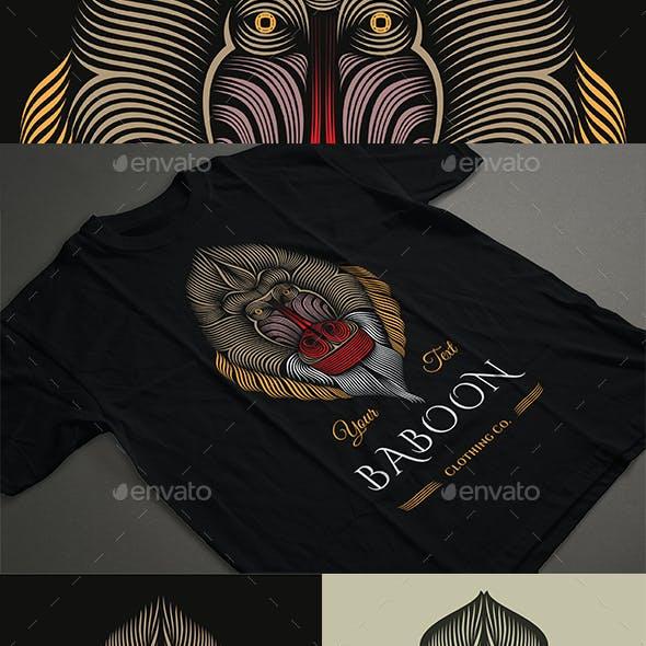 Baboon T-shirt Design