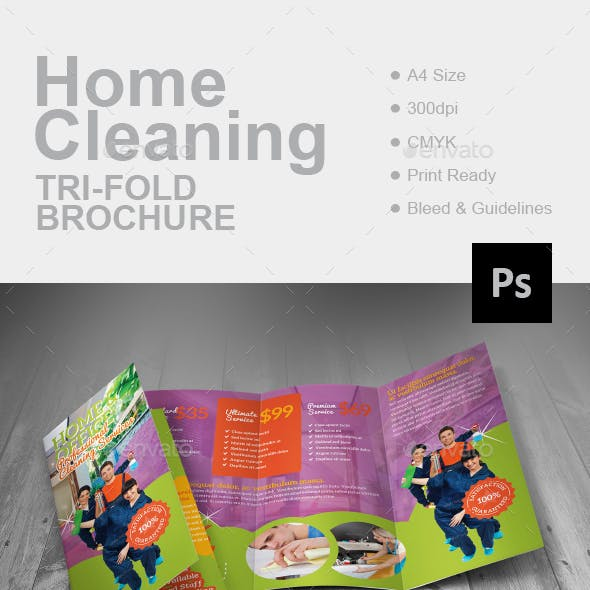 Home Cleaning Tri-Fold Brochure