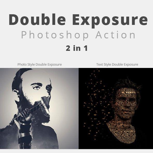 Photo & Text Double Exposure Action