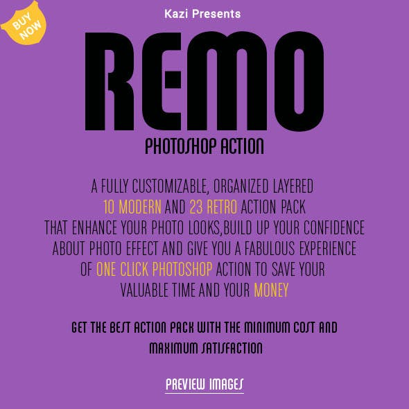 Remo Photoshop Action