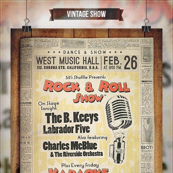 Vintage Show - Flyer & Poster