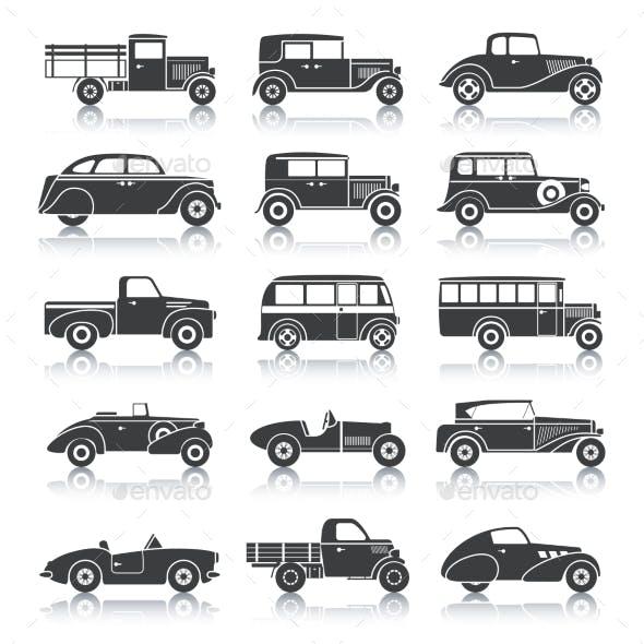 Retro Cars Set