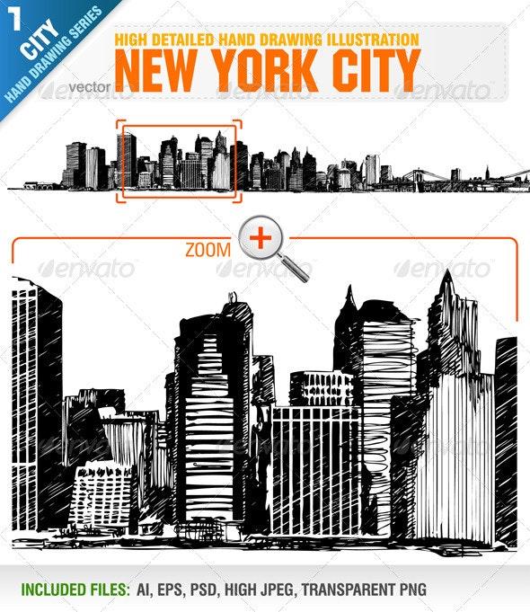 New York City Skyline - Buildings Objects