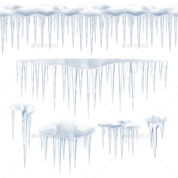 Icicles Vector Icons