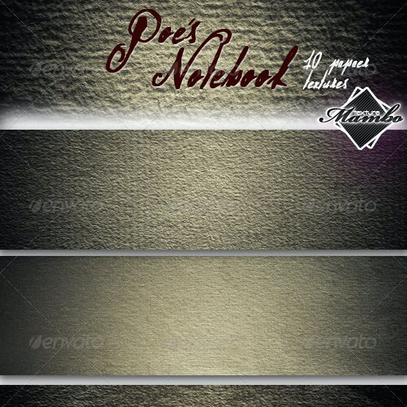 Poe's Notebook - Paper textures