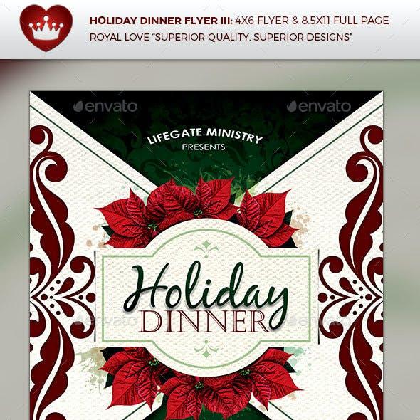 Holiday Dinner Flyer III