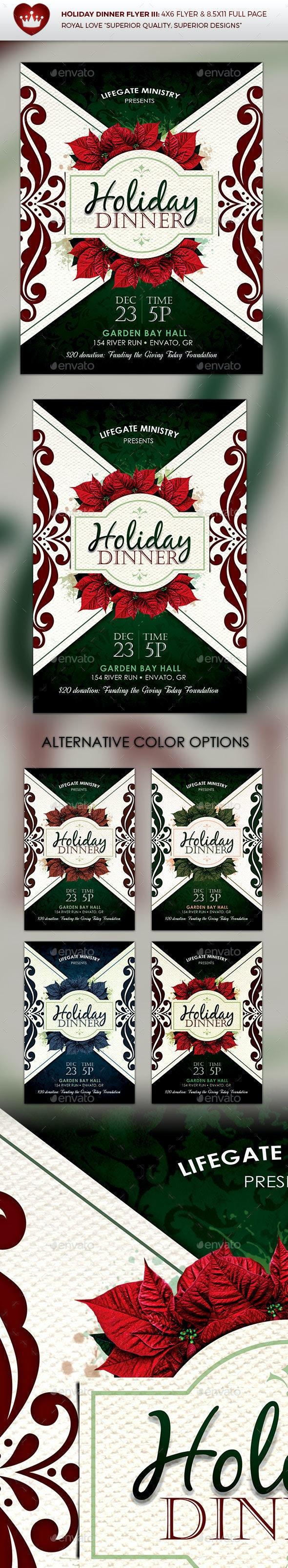 Holiday Dinner Flyer III - Holidays Events