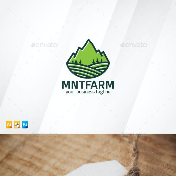Mountain and Farm Logo
