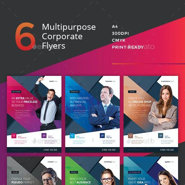 Corporate Flyer - 6 Multipurpose Business Templates vol 14