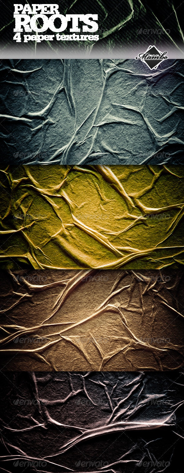 Paper Roots - Wrinkled paper textures - Paper Textures