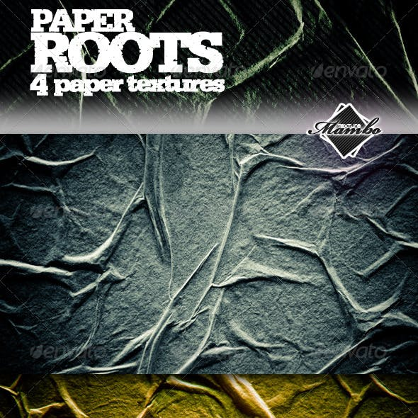 Paper Roots - Wrinkled paper textures