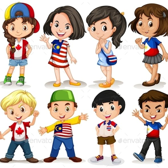 Boys and Girls from Different Countries