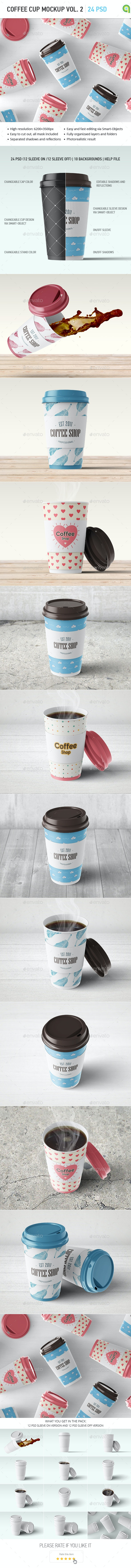 Coffee Cup Mock-up Vol.2 - Food and Drink Packaging