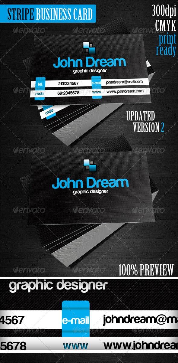 Stripe Black Business Card  - Creative Business Cards