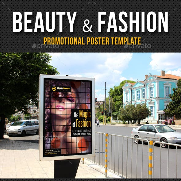 Beauty and Fashion Poster Template V05