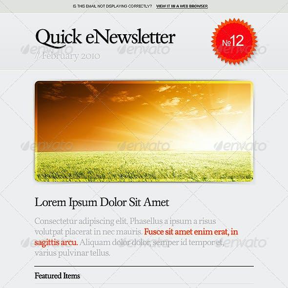 Quick eNewsletter Design