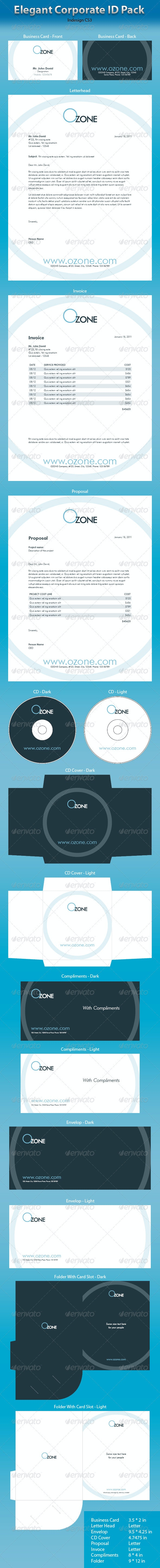 OZone Full Corporate ID Package - Stationery Print Templates