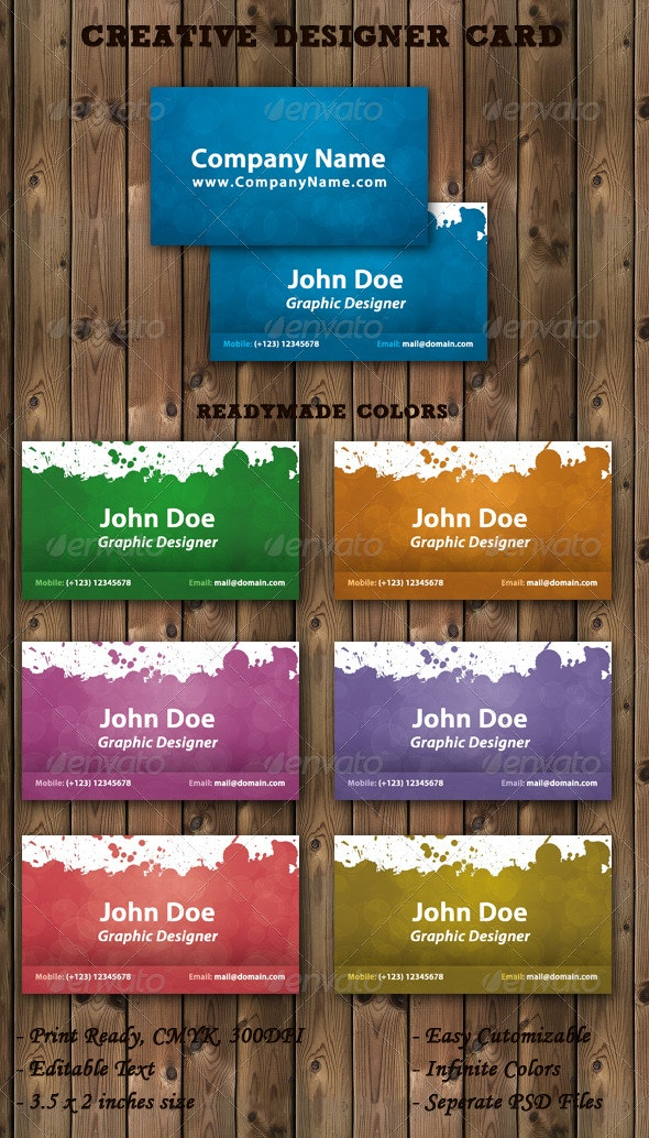 Creative Designer Business Card - Creative Business Cards