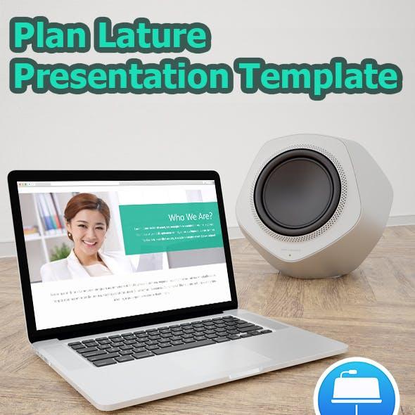 Plan Lature Keynote Business Presentation Template
