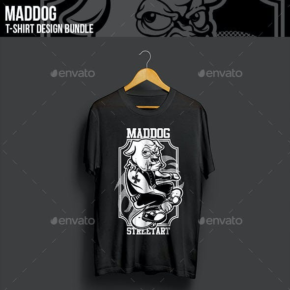 Maddog T-Shirt Design Bundle