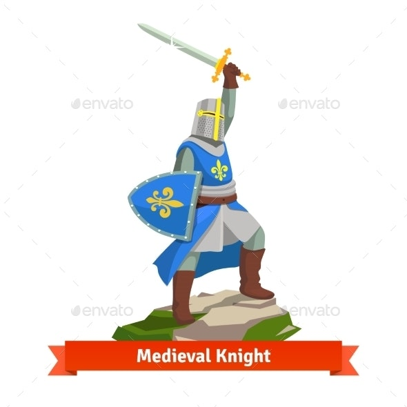 Heavy Armoured French Medieval Knight - Characters Vectors