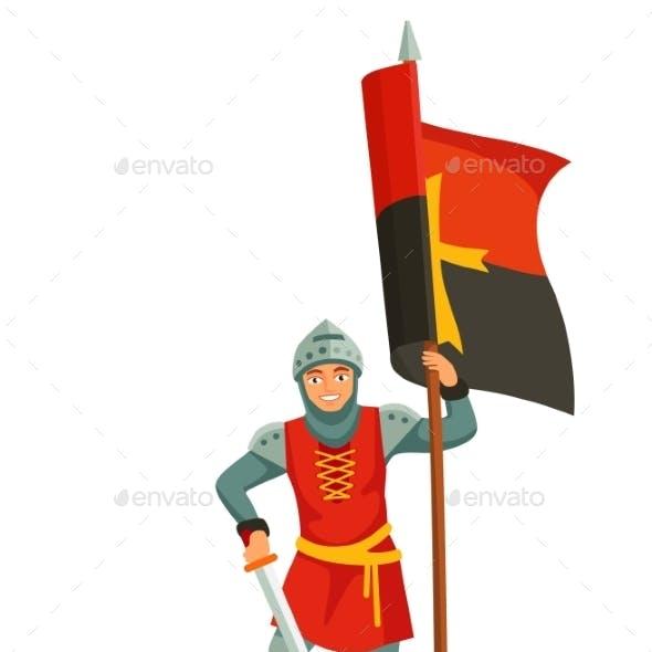 Foot Knights Templar Banner Bearer