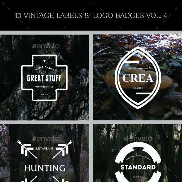 10 Vintage Labels & Logo Badges Vol. 4