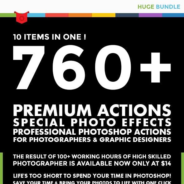 760+ Premium Actions