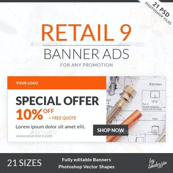 Retail 9 Banner Ads