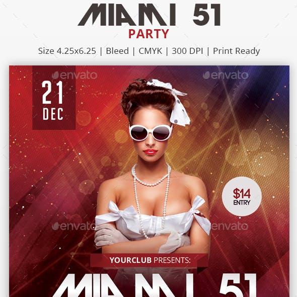 Miami 51 - PSD Flyer