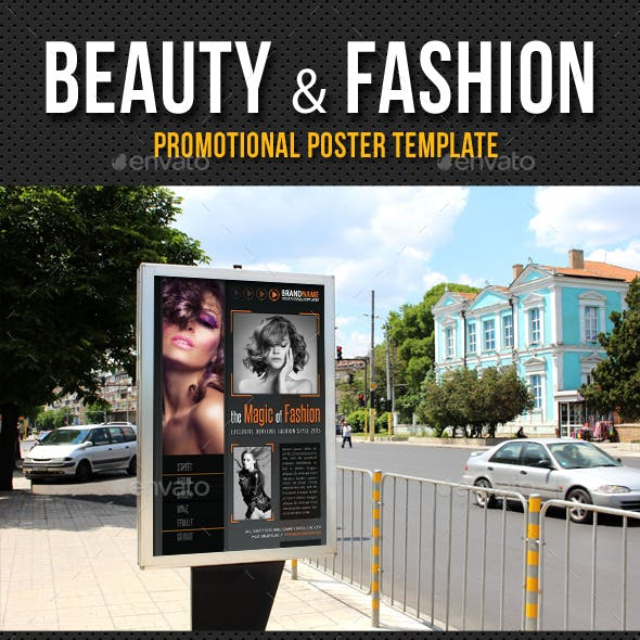 Beauty and Fashion Poster Template V06
