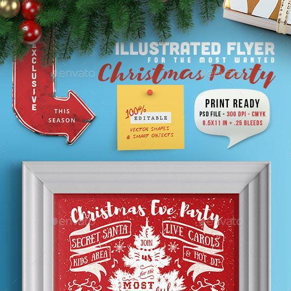 Illustrated Christmas Party Invitation II