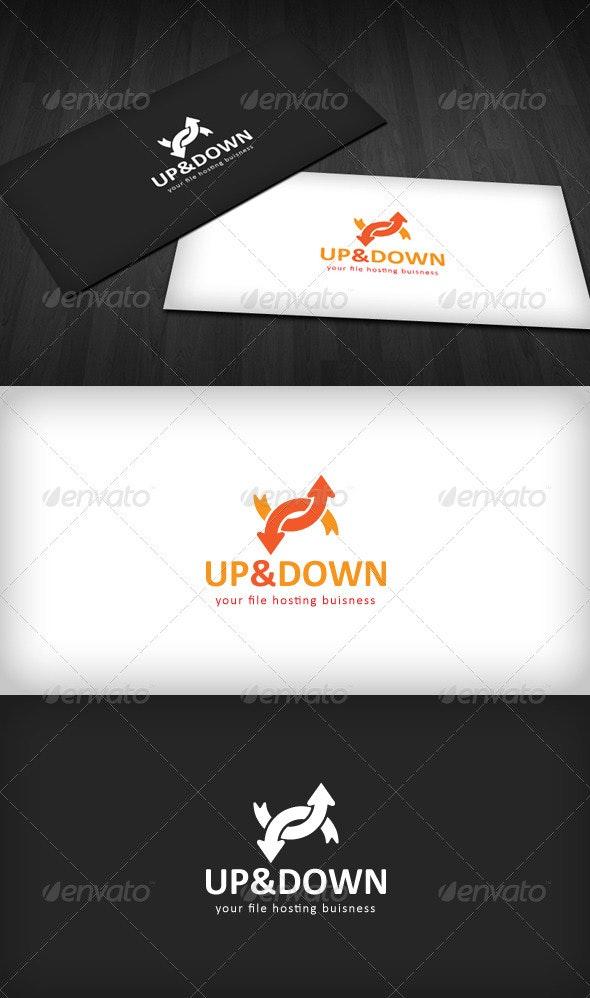 Up & Down Logo - Vector Abstract