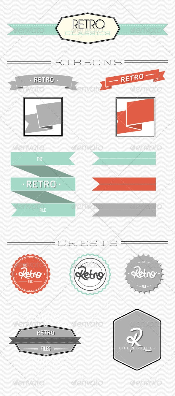 Retro Ribbons & Crests - Retro Technology