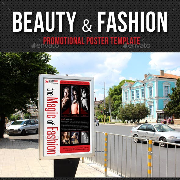 Beauty and Fashion Poster Template V07