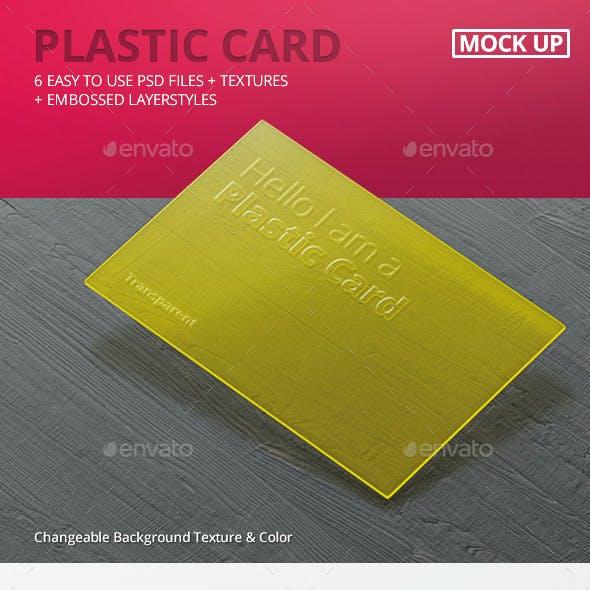 Transparent Business Card Mock-Ups