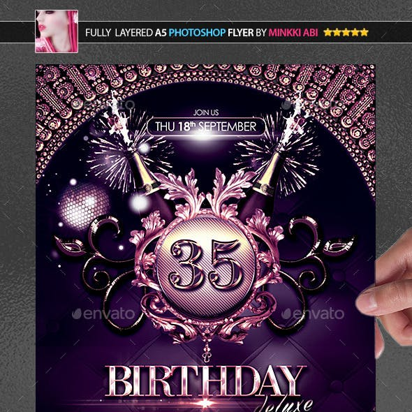 Birthday Deluxe Poster/Flyer